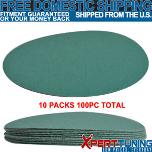 Wet Dry 5 Inch No Hole Sand Paper Disc 100 Grit Body Repair Sanding Sheet 100 Pc