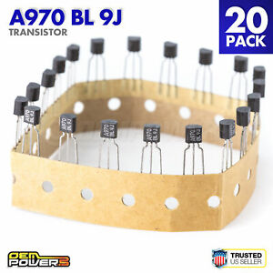 Lot Of 20 2sa970 bl A970 Bl 9j Transistor Low Noise Audio Amplifier 3 pin New