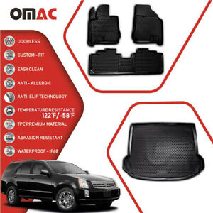 Floor Mats Cargo Liner 3d Molded Black Set For Cadillac Srx 2010 2016
