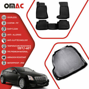 Floor Mats Cargo Liner 3d Molded Fit Black Set For Cadillac Cts 2008 2013