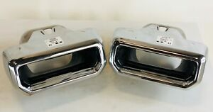 New Takeoff Chevy Silverado Gmc Sierra Exhaust Bezels Tips Set Two Left Right