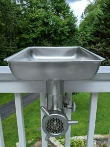 Restaurant Stainless 22 Hub Meat Grinder Attachment Tool Feed Tray hobart