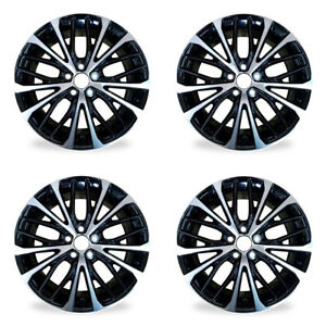 Set Of 4 18 Black Wheel For 2018 2019 Toyota Camry Oem Quality Alloy Rim 75221b