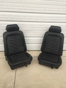 1965 1966 Mustang Coupe Bucket Seats W Headrests Head Rests Ford Nice Shape
