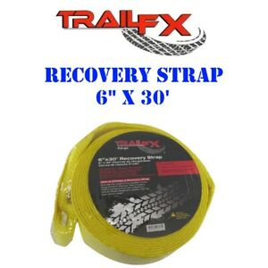 C16019y Trail Fx Cargo Yellow Recovery Tow Strap 6 X 30