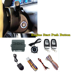 Car Alarm Systems Vibration Security Ignition Engine Start Push Button Remote D7