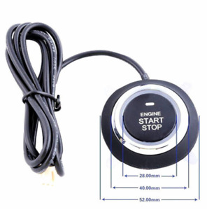 Car Engine Start Push Button Remote Kit Alarm Ignition Start Security System Key