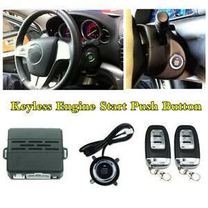 Keyless Entry Pke Remote Engine Start Push Button Car Alarm System Security Kit