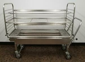 Steris Amsco 60 Load Cart And Sterilizer Transfer Carriage Excellent Condition