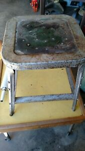 Vintage Industrial Metal Mechanic Shop Stool