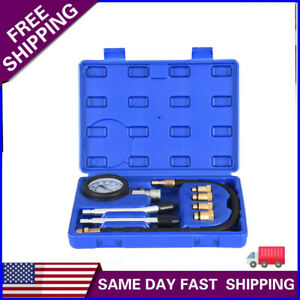 Cylinder Compression Tester Test Tool Mechanics Gas Engine Pressure Gauge Tool