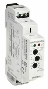 Macromatic Voltage Sensing Relay 240vac 15a 240v 5 Pins Mounting Din