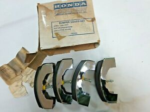Nos 1979 Honda Accord Front Rear Bumper Guards Factory Honda Accessory Parts