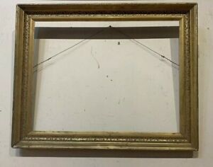 Antique Silver Gilt American Sampler Or Watercolor Frame Mid 19th Century