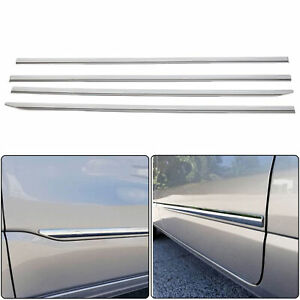 Chrome Side Moldings Trim Mouldings For Ram 1500 Crew Cab 2019 2021 4 Door