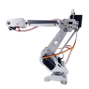 6 dof Robot Mechanical Arm Alloy With Servos Power Supply Arduino Board Kit