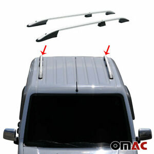 Top Roof Rack Side Rails Bars Alu Silver For Ford Transit Connect Short 10 2013