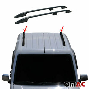 Top Roof Rack Side Rails Bars Alu Black For Ford Transit Connect Short 2010 2013
