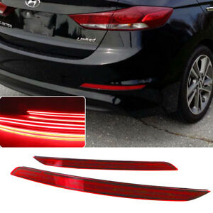 For Hyundai Elantra 2017 2018 Rear Bumper Reflector Tail Fog Light Lamp