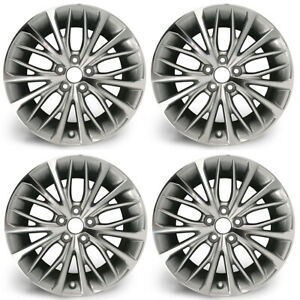 Set Of 4 18 Silver Wheels For 18 19 Toyota Camry Oem Quality Alloy Rim 75221a