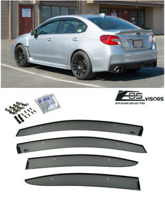 Eos For 15 up Subaru Wrx Sti Jdm Clip on Side Window Visors Guard Deflectors