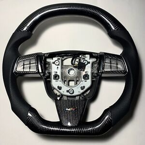09 15 Cadillac Cts V Flat Bottom Carbon Fiber Steering Wheel