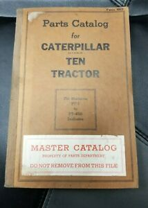 Caterpillar Ten Tractor Pt 1 Pt 4929 Parts Catalog
