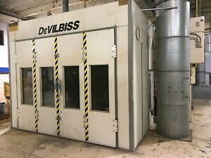 Devilbiss Paint Spray Booth Oven Drying Room System 53 L X 13 5 W