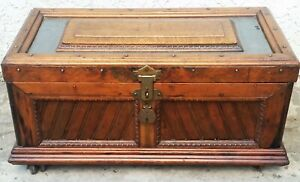 Antique Carpenter Tool Chest Trunk Treasure Chest Great For A Coffee Table