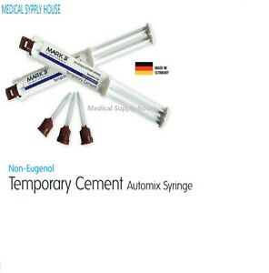 Dental Temporary Cement Ne Automix Crown Bridge Material eugenol free 2 pk