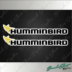 Hummingbird Fishing Decals 6 Pair High Quality Stickers Boat Graphics
