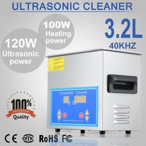 New Stainless Steel 3 2l Liter Industry Heated Ultrasonic Cleaner W timer Hc