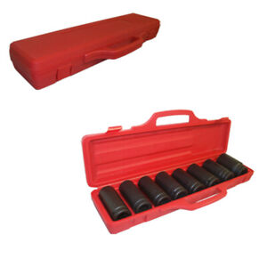 Deep Impact Socket Sae Set 8 Pc 3 4 Dr Drive With 13 16 Square