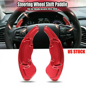 For Honda Accord 2013 2018 Aluminum Red Dsg Paddle Shifters Extensions Trim U
