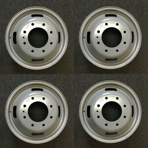 Set Of 4 17x6 5 Dually Steel Wheels For 05 16 Ford F350 Super Duty Oem Qlty 3615