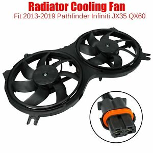 For 2013 19 Pathfinder Infiniti Jx35 Qx60 Ac Radiator Dual Cooling Fan Assembly