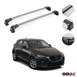 Roof Rack Cross Bars Luggage Carrier Silver Set Alu For Mazda Cx 3 2016 2020