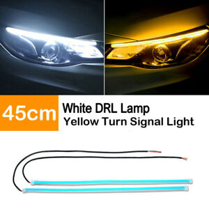 30cm Red Drl Turn Signal Light Strip Yellow Sequential Switchback Led Tube Lamp