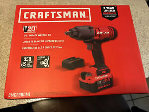 Craftsman Cmcf900m1 20v 1 2 Impact Wrench Kit