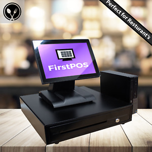 Firstpos 12in Touch Screen Pos Cash Register Till System Retail restaurant