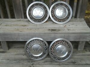 Four 4 1953 Buick 15 Wire Wheel Covers Hubcaps