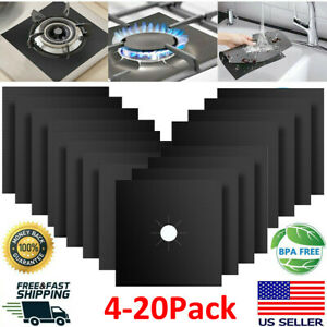 Gas Range Stove Top Burner Cover Protector Reusable Liner Clean Cook Non stick 4