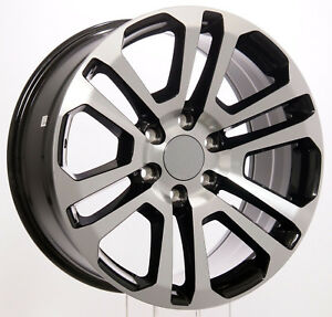 Chevy Silverado Tahoe Suburban 20 Black Machine Split Spoke Wheels 2000 20
