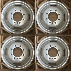 Set Of 4 16 Steel Dually Wheels For 85 97 Ford F350 Oem Quality Rim 03872 3037