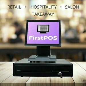 Firstpos 12in Touch Screen Pos Cash Register Till System Bar Clubs