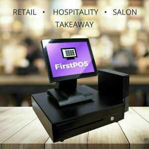 Firstpos 12in Touch Screen Pos Cash Register Till System Coffee Shops Cafes