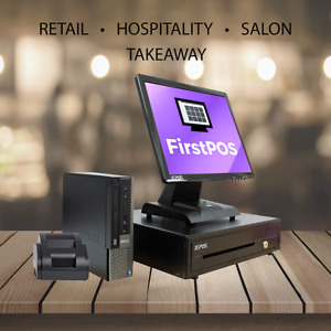 Firstpos 17in Touch Screen Pos Epos Cash Register Till System Coffee Shops Cafe