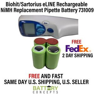 Biohit sartorius Eline Rechargeable Nimh Replacement Pipette Battery 731009