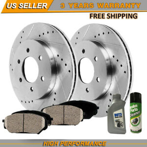 Front Rotors And Ceramic Pads Fits For 2002 2003 2004 2005 2006 Ford Expedition
