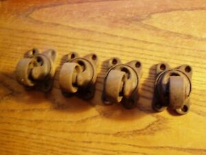 4 vtg Cast Iron Victor Industrial Small Swivel Casters Wheels 1 3 8